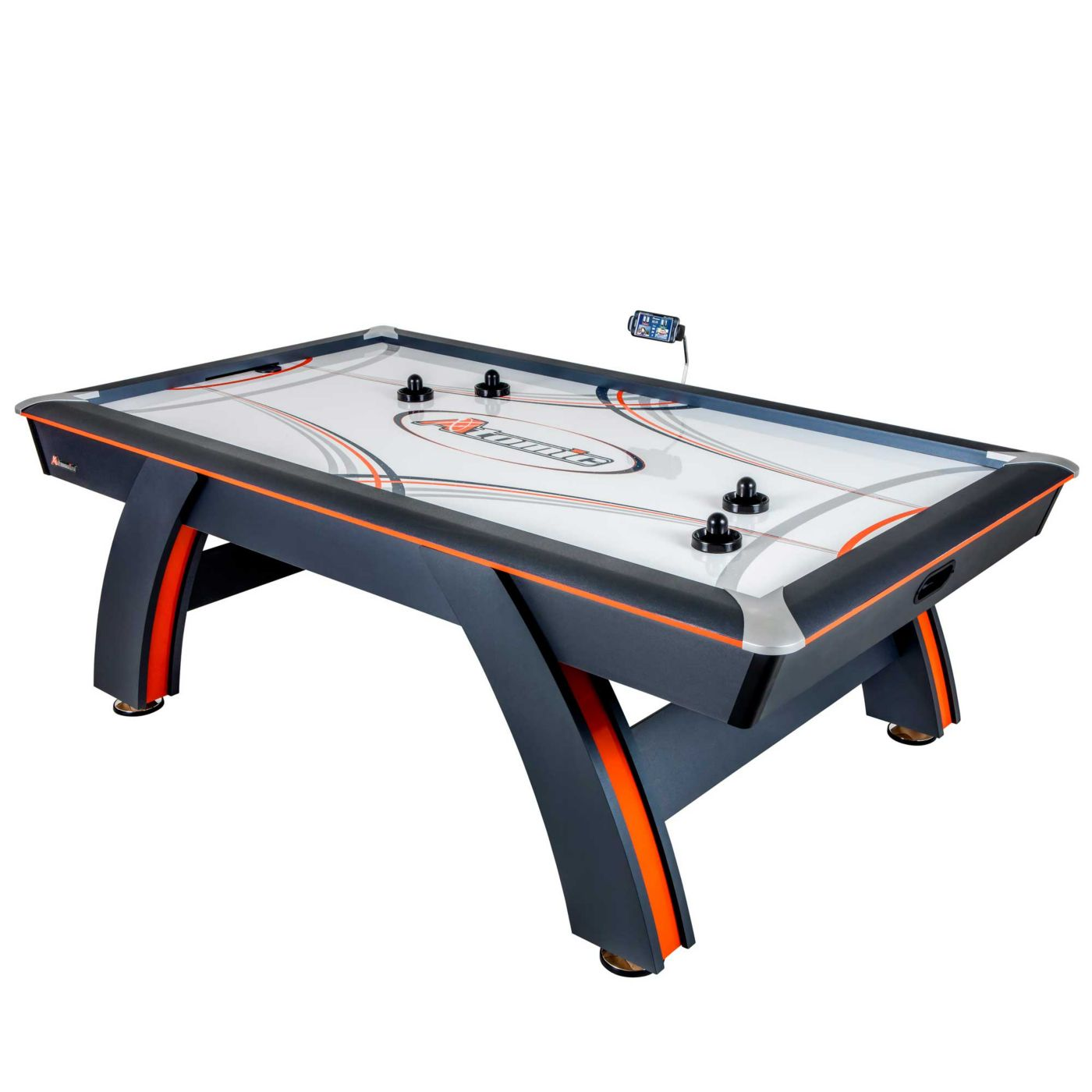Atomic 7.5' Contour Air Hockey Table with ScoreLinx