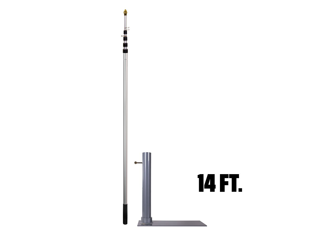 Flagpole-To-Go Tailgate Package