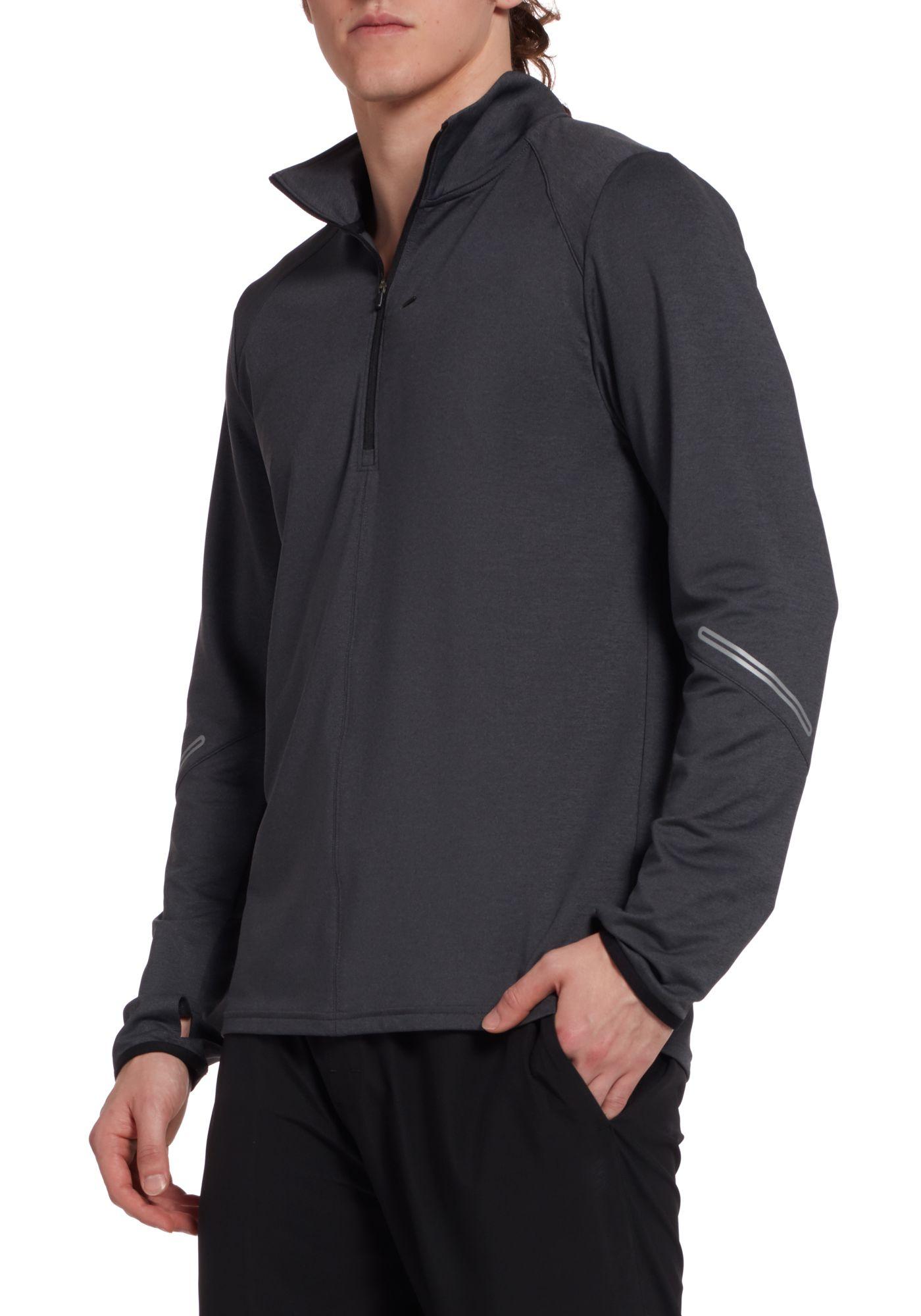 SECOND SKIN Men's Training 1/2 Zip Long Sleeve Shirt