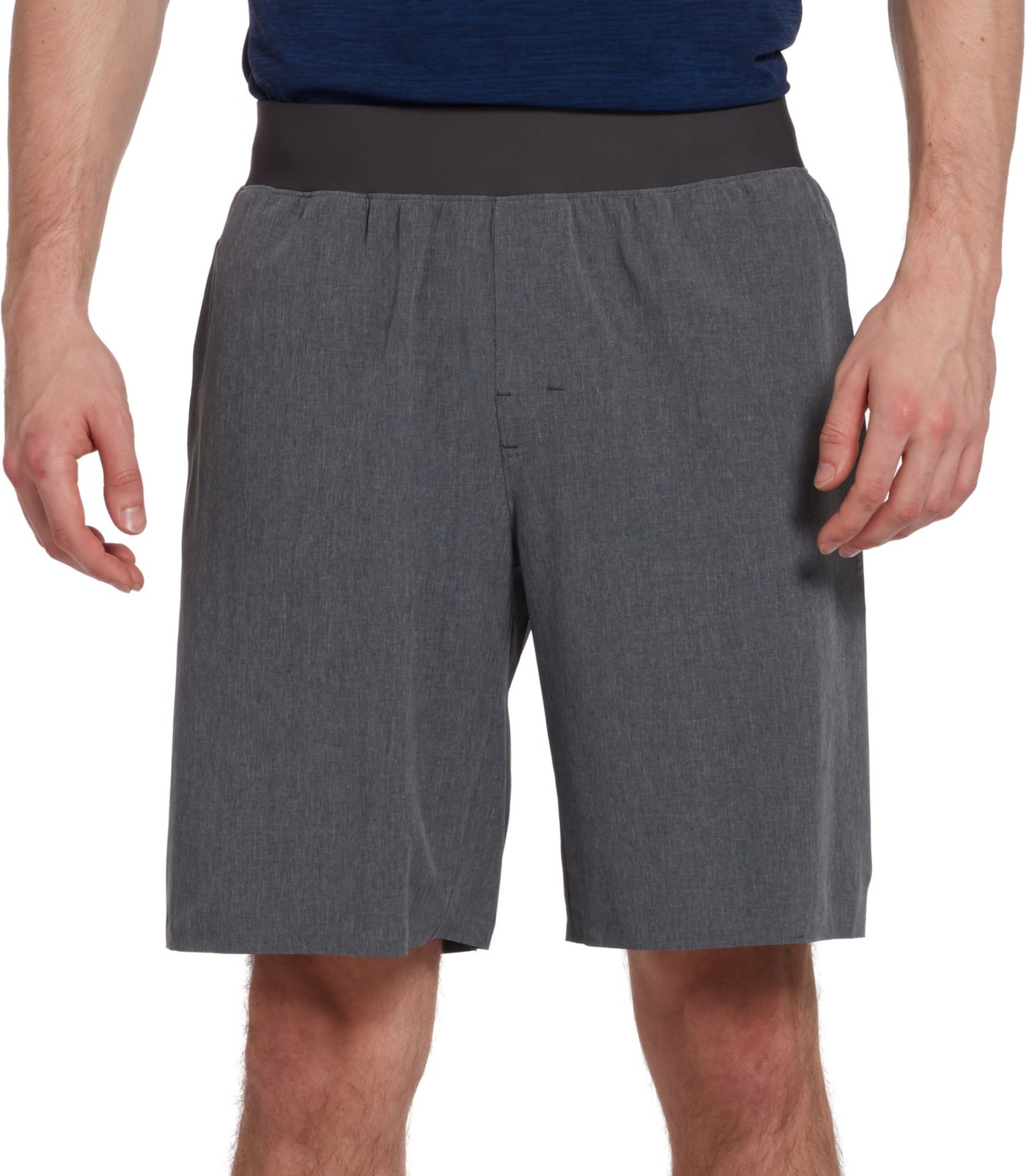 SECOND SKIN Men's Heather Stretch Woven Shorts