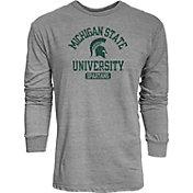 Blue 84 Men's Michigan State Spartans Grey Danville Long Sleeve T-Shirt