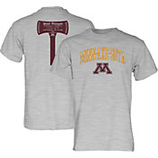 Blue 84 Men's Minnesota Golden Gophers Grey Axe Football T-Shirt