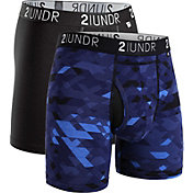 2UNDR Men's Swing Shift 6'' Boxer Briefs – 2 Pack