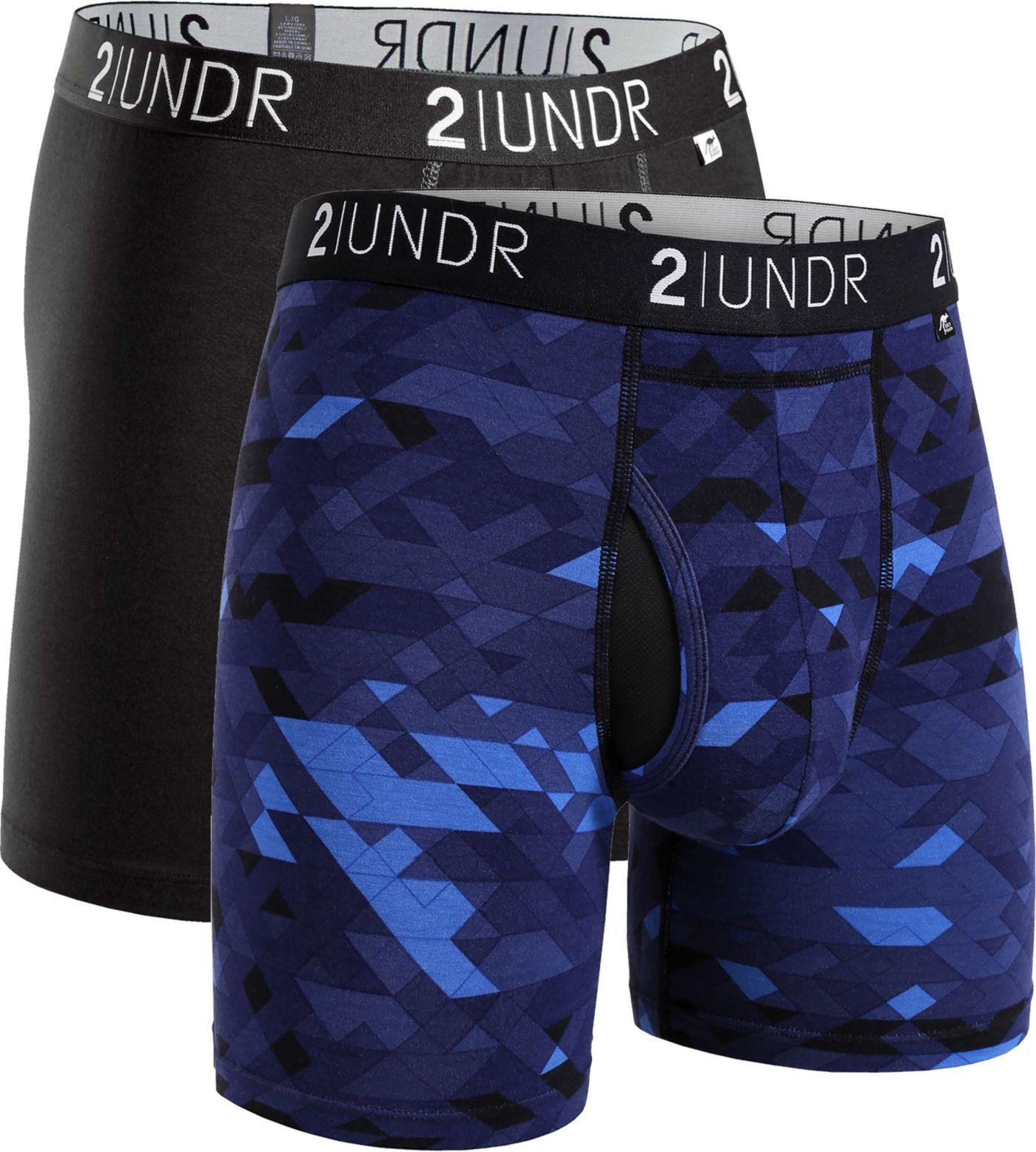 2UNDR Men's Swing Shift 6'' Boxer Briefs – 2 Pack