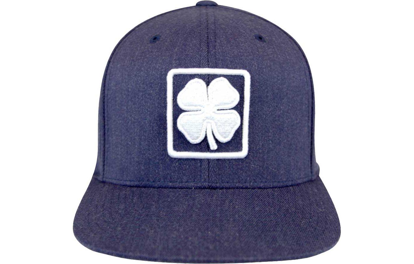 Black Clover Men's Lucky Square Flat Brim Golf Hat