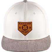 Black Clover + Rawlings Leather Patch Flat Brim Hat
