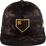 Black Clover + Rawlings Multi-Camo Flat Brim Hat