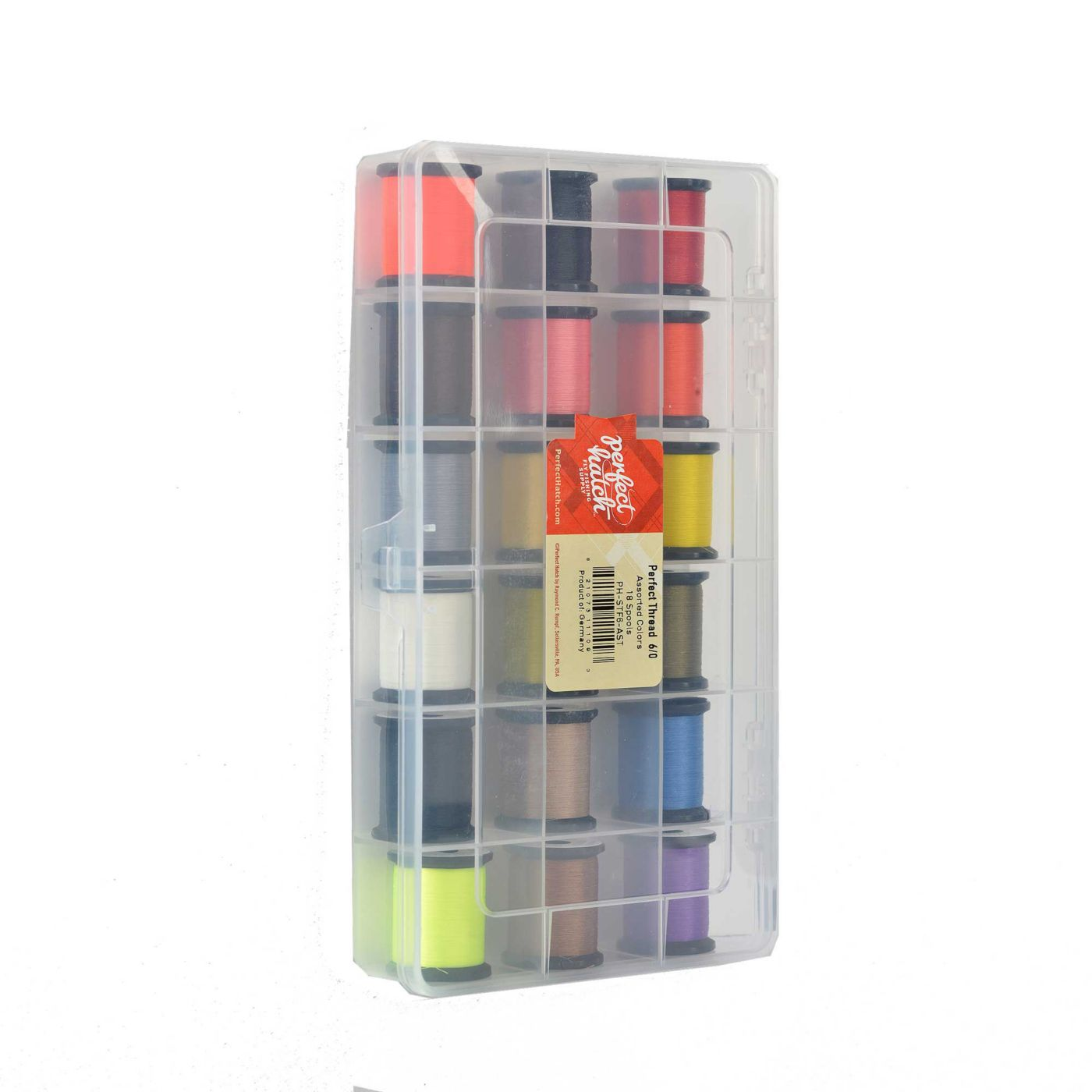 Perfect Hatch Perfect Thread 3/0 18 Spool Assortment