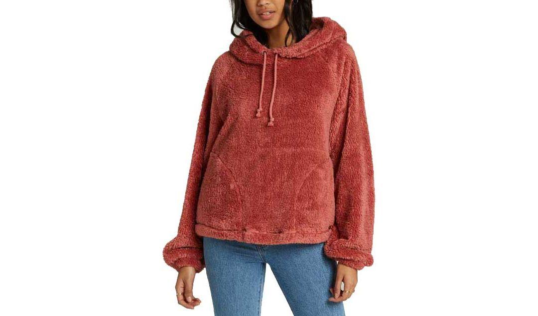 sale retailer 50545 25368 Billabong Women's Warm Regards Sherpa Pullover Hoodie