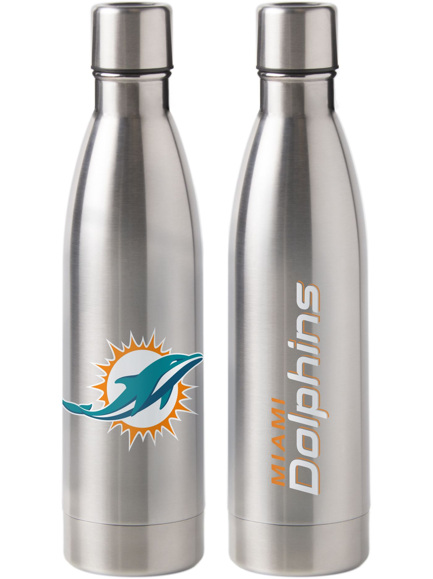 Boelter Miami Dolphins Stainless Steel Water Bottle