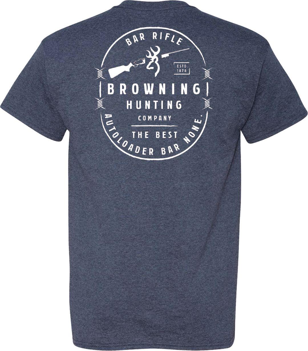 Browning Men S Bar Oval T Shirt Field