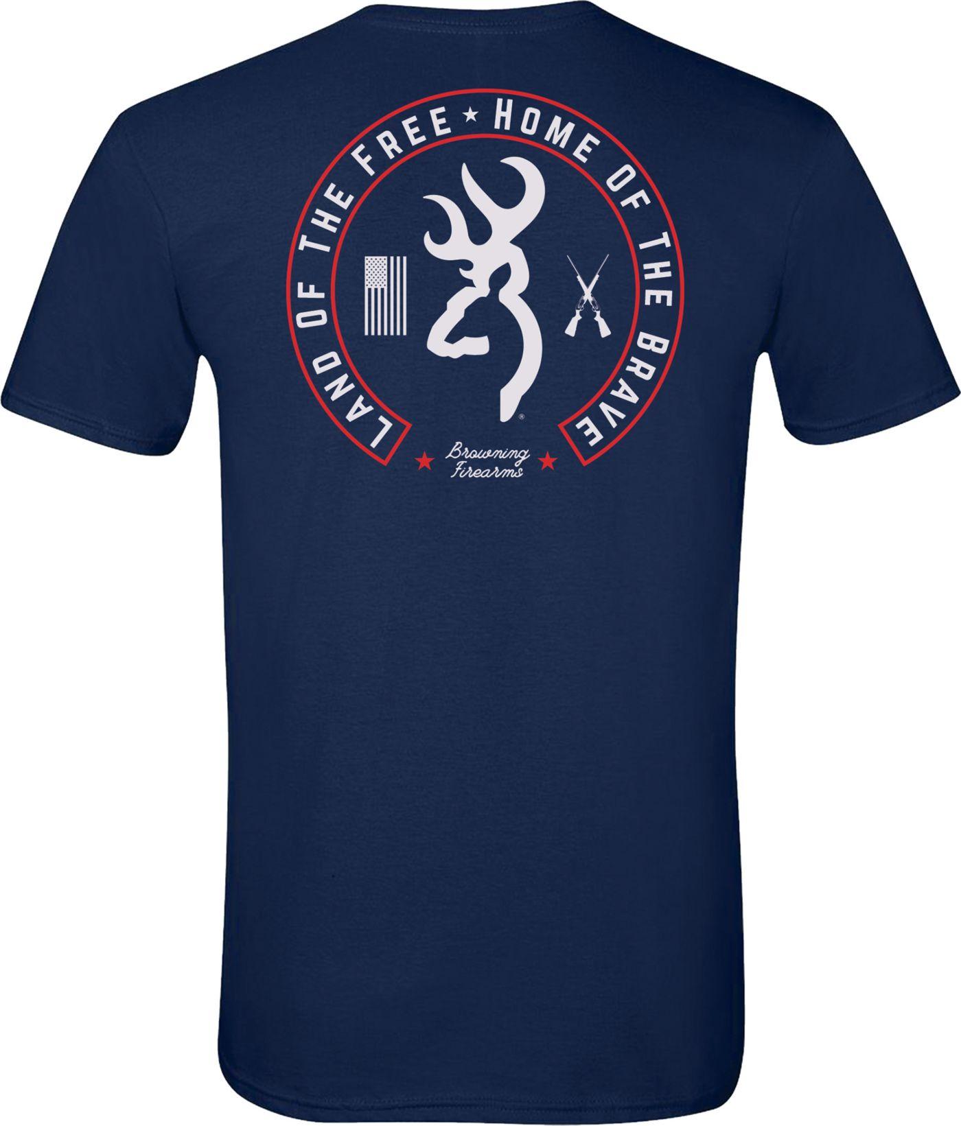 Browning Men's Land of the Free Circle T-Shirt
