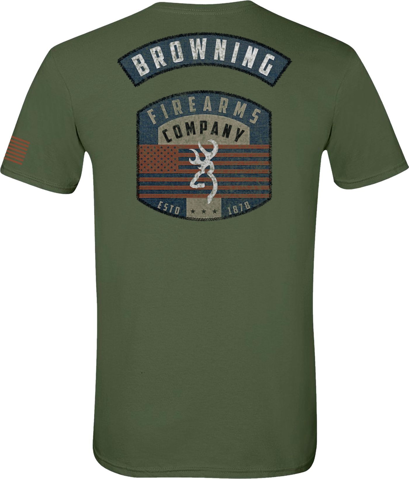 Browning Men's Military Patch T-Shirt