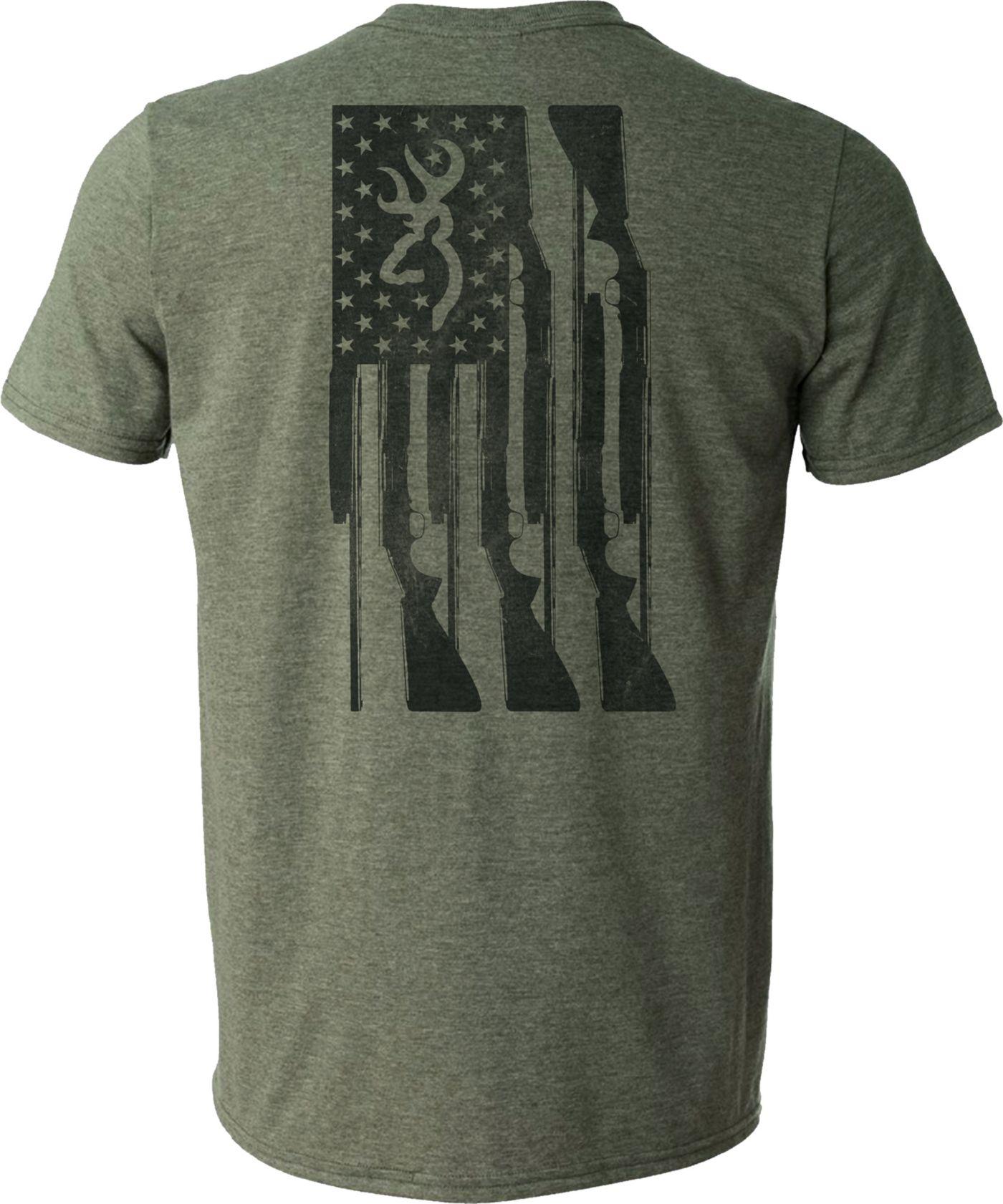Browning Men's Rifle Flag T-Shirt
