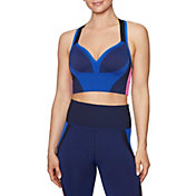 Betsey Johnson Women's Colorblock Seamless Sports Bra