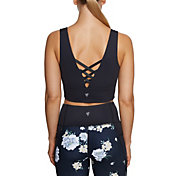 Betsey Johnson Women's Deep V-Back Basket Sports Bra