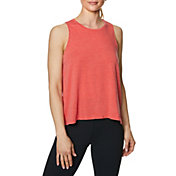 Betsey Johnson Women's Keyhole Back Tie Up Crop Tank Top