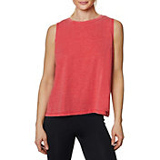 Betsey Johnson Women's Logo Band Muscle Swing Tank Top