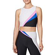 Betsey Johnson Women's Long Line Color Blocked Sports Bra