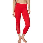 Betsey Johnson Women's Mesh Bow Seamless 7/8 Legging