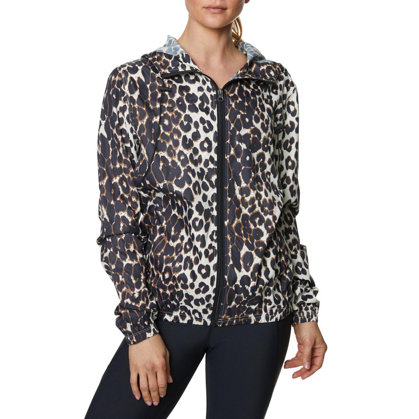 Betsey Johnson Women's Leopard Woven Windbreaker