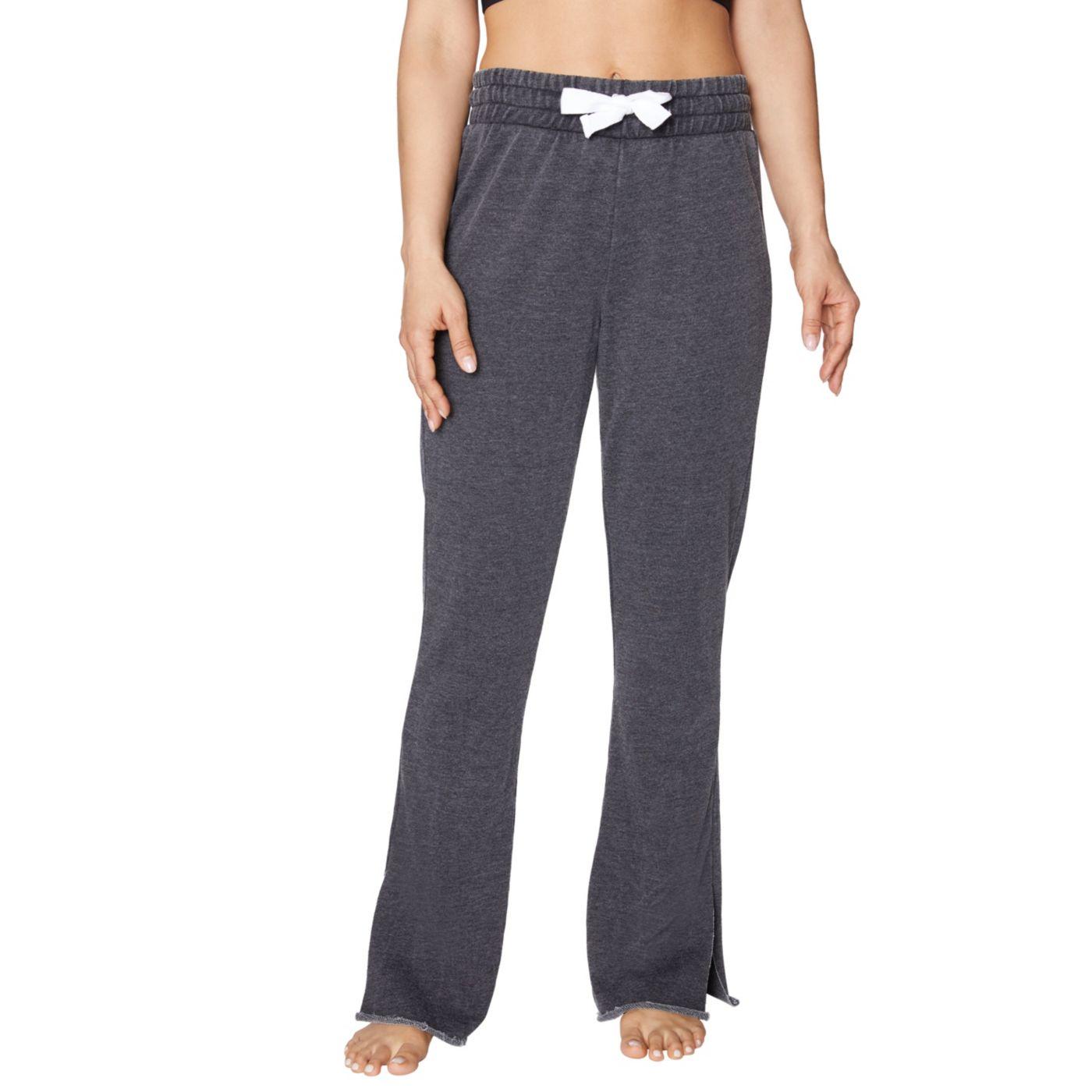 Betsey Johnson Women's Raw Edge Side Slit Tape Pant