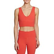 Betsey Johnson Women's Smocked Waist Extended Sports Bra