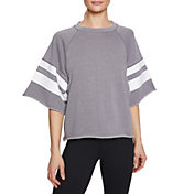 Betsey Johnson Women's Stripe Cutoff Sweatshirt