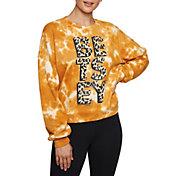 Betsey Johnson Women's Tie Dye  Leopard Sweatshirt