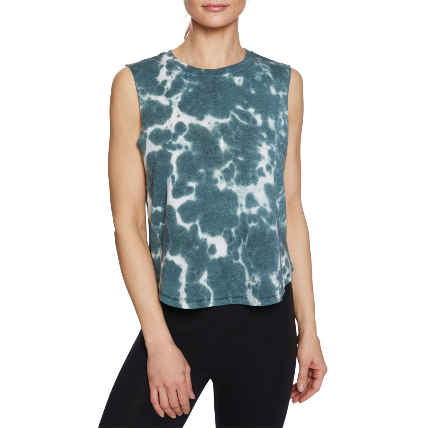 Betsey Johnson Women's Tie Dye Scallop Hem Muscle Tank Top