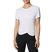 Betsey Johnson Women's Twist Front Crop Tee