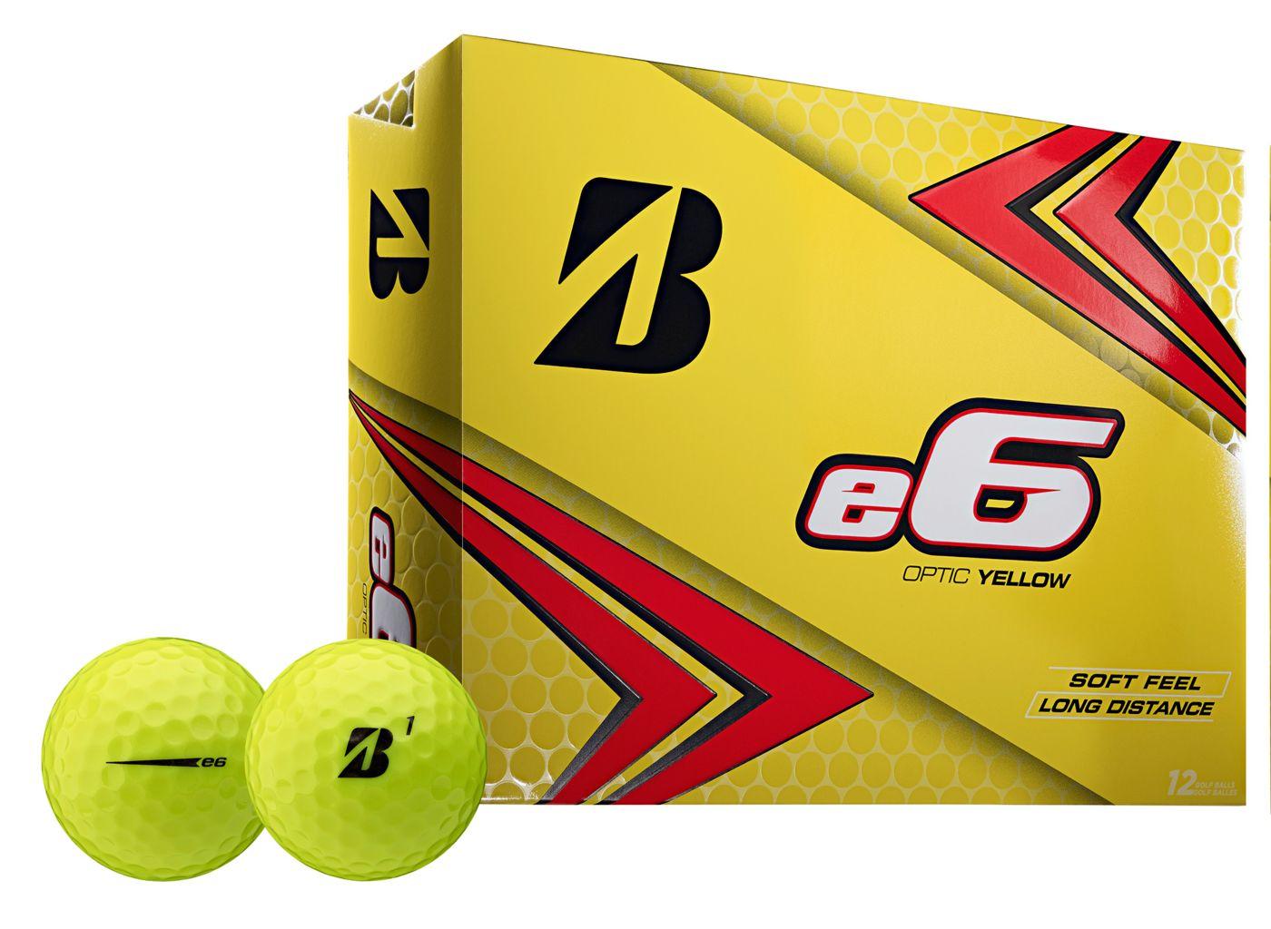 Bridgestone 2019 e6 Optic Yellow Personalized Golf Balls