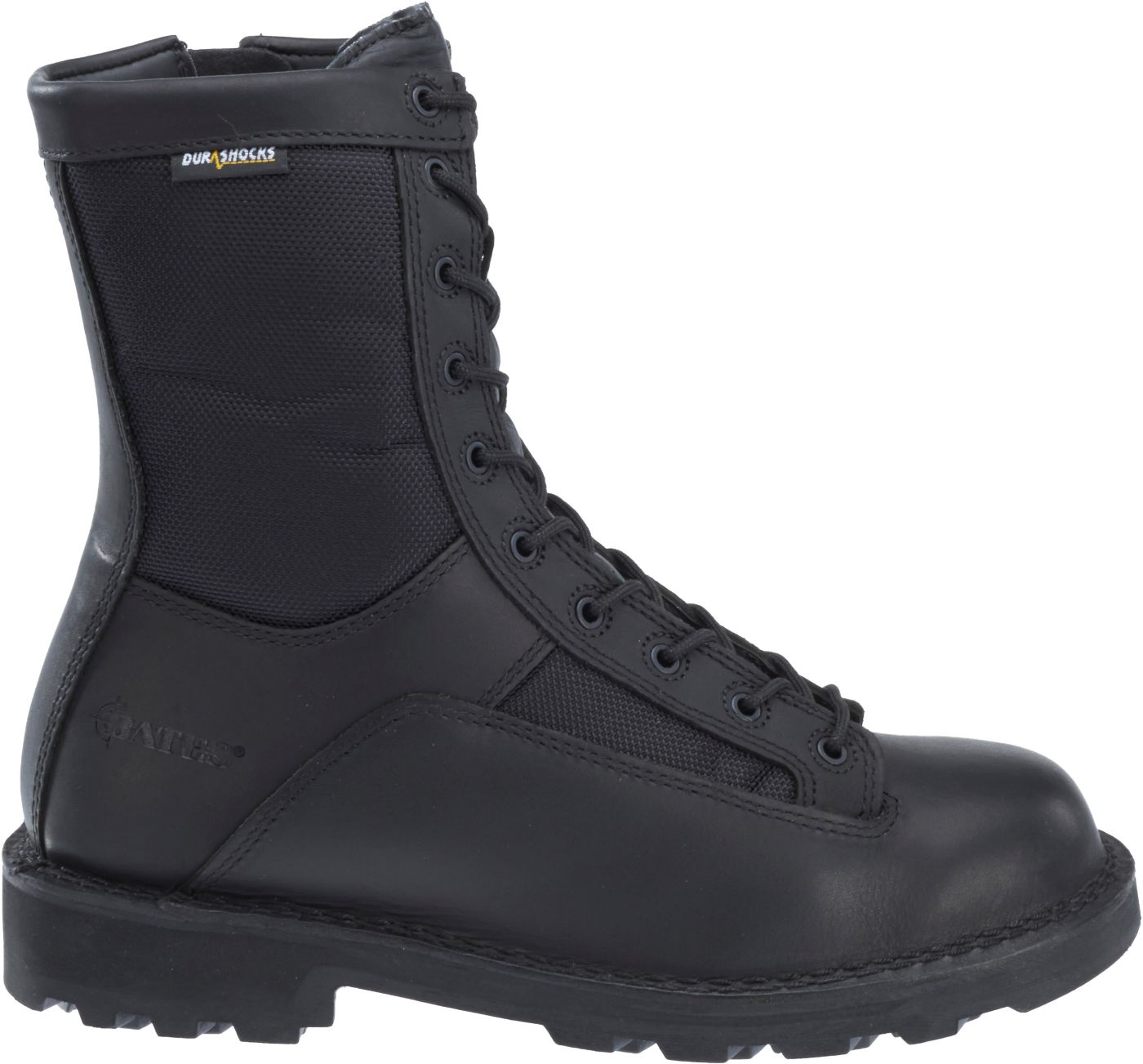 Bates Men's 8'' DuraShocks Lace-to-Toe Side Zip Work Boots