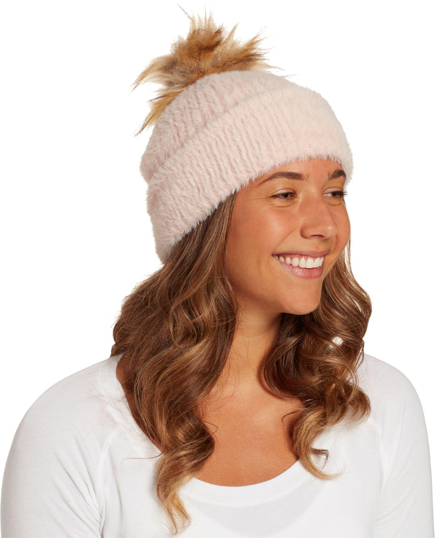 CALIA by Carrie Underwood Women's Fuzzy Pom Beanie