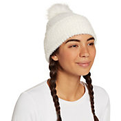 CALIA by Carrie Underwood Women's Fuzzy Pom Beanie