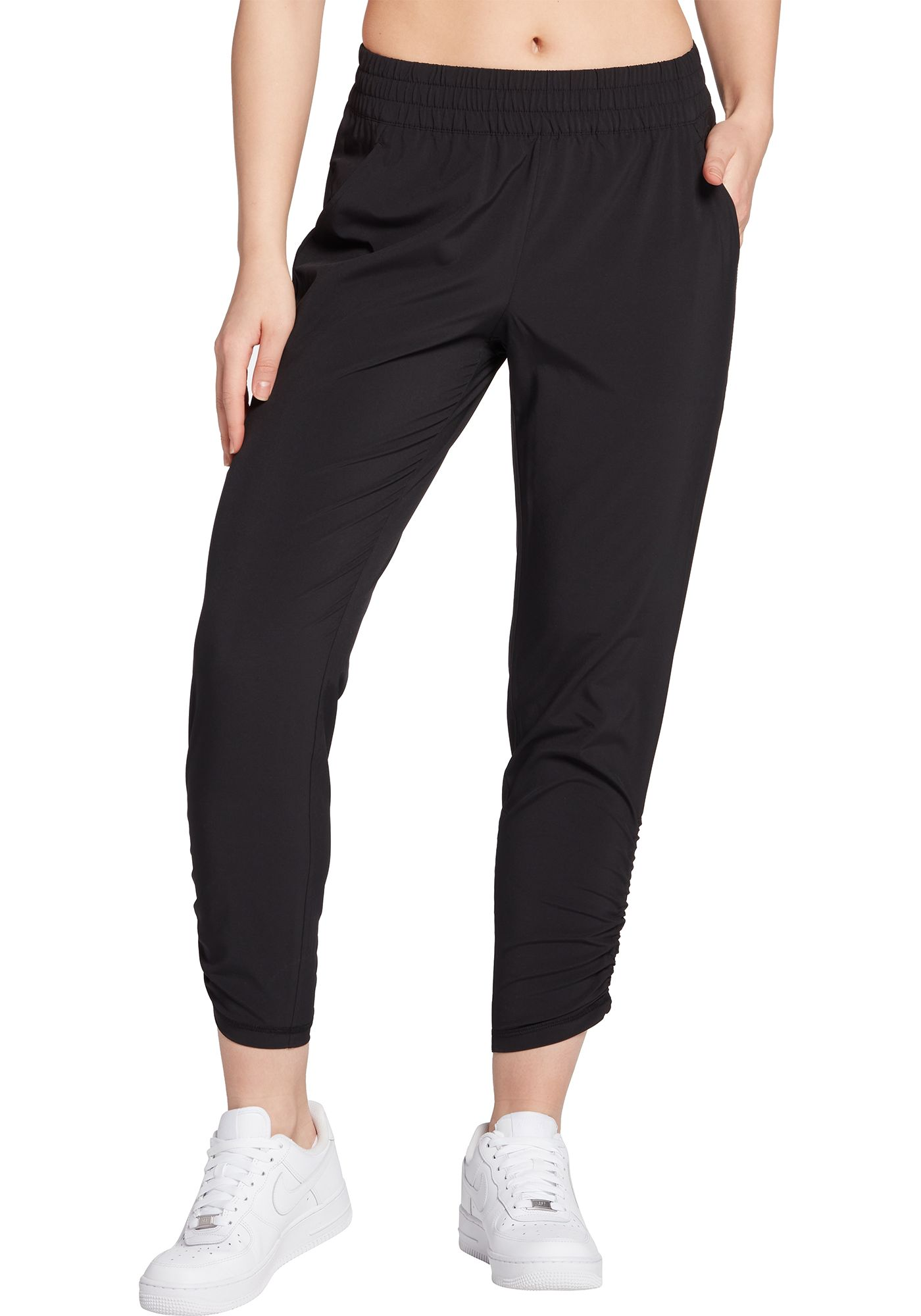 CALIA by Carrie Underwood Women's Journey Ruched Cropped Pants