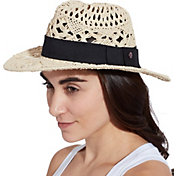 CALIA by Carrie Underwood Women's Open Weave Wide Brim Fedora