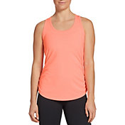CALIA by Carrie Underwood Women's Flow Ruched Side Racerback Tank Top (Regular and Plus)