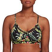 CALIA by Carrie Underwood Women's Ruched Trim Printed Bikini Top