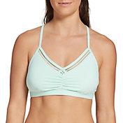 CALIA by Carrie Underwood Women's Ruched Trim Bikini Top