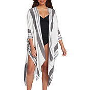 CALIA by Carrie Underwood Women's Striped Swim Wrap