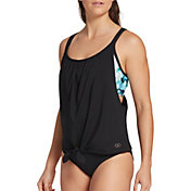 CALIA by Carrie Underwood Women's Tie Front Tankini Top (Regular and Plus)