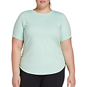 CALIA by Carrie Underwood Women's Plus Size Flow Crewneck Ruched T-Shirt
