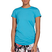 CALIA by Carrie Underwood Women's Flow Crewneck Ruched T-Shirt