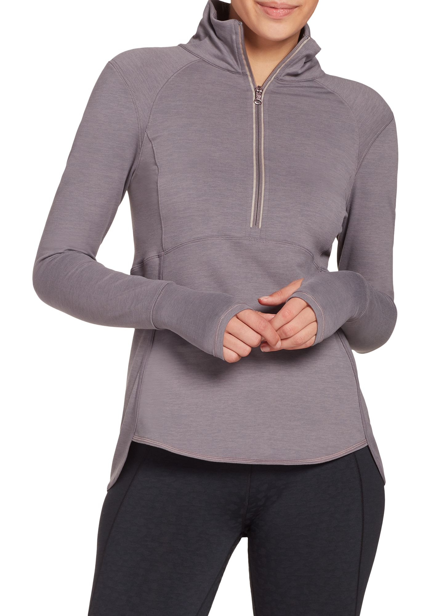 CALIA by Carrie Underwood Women's Cold Weather Compression Layering 1/2 Zip Long Sleeve Shirt