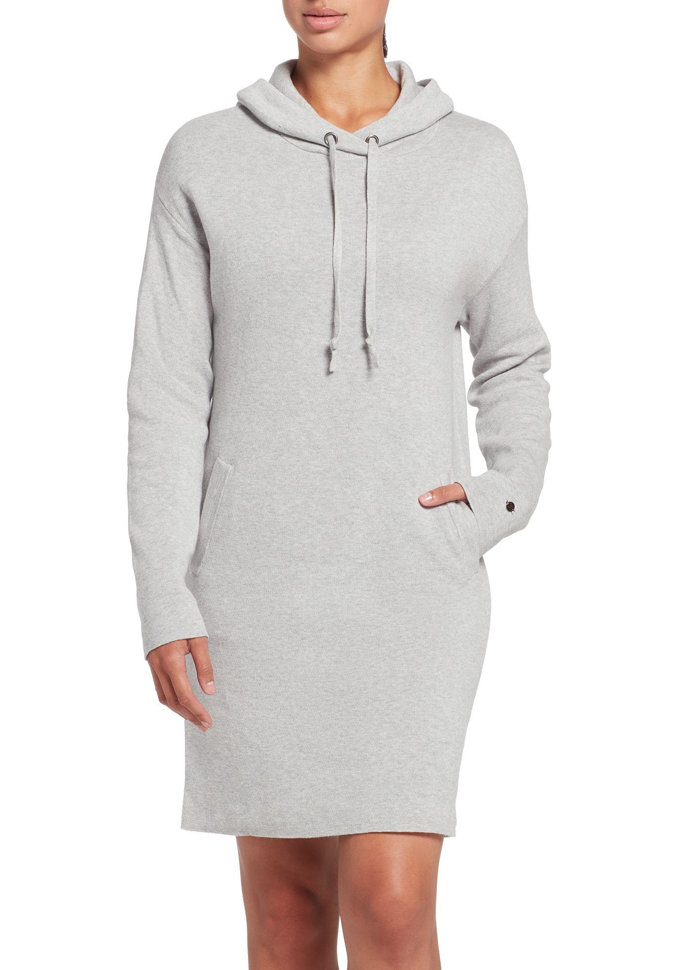 CALIA by Carrie Underwood Women's Journey Hooded Sweater Dress