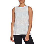 CALIA by Carrie Underwood Women's Lace Keyhole Muscle Tank Top