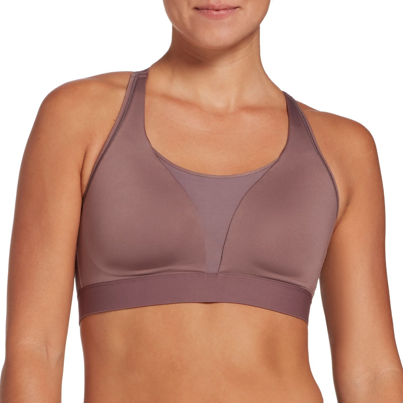 CALIA by Carrie Underwood Women's Mesh Inset Medium Support Sports Bra