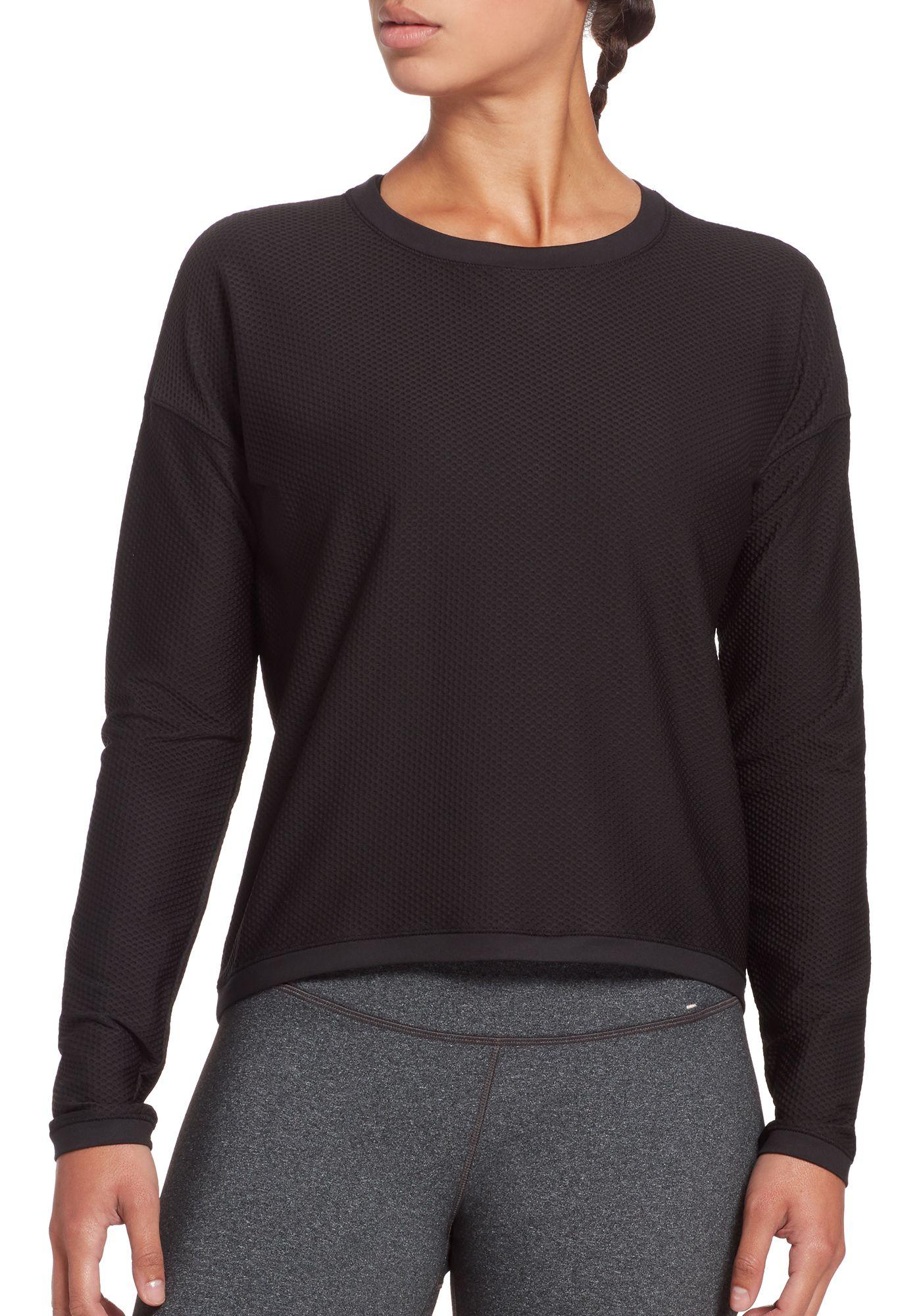 CALIA by Carrie Underwood Women's Move Mesh Long Sleeve Shirt