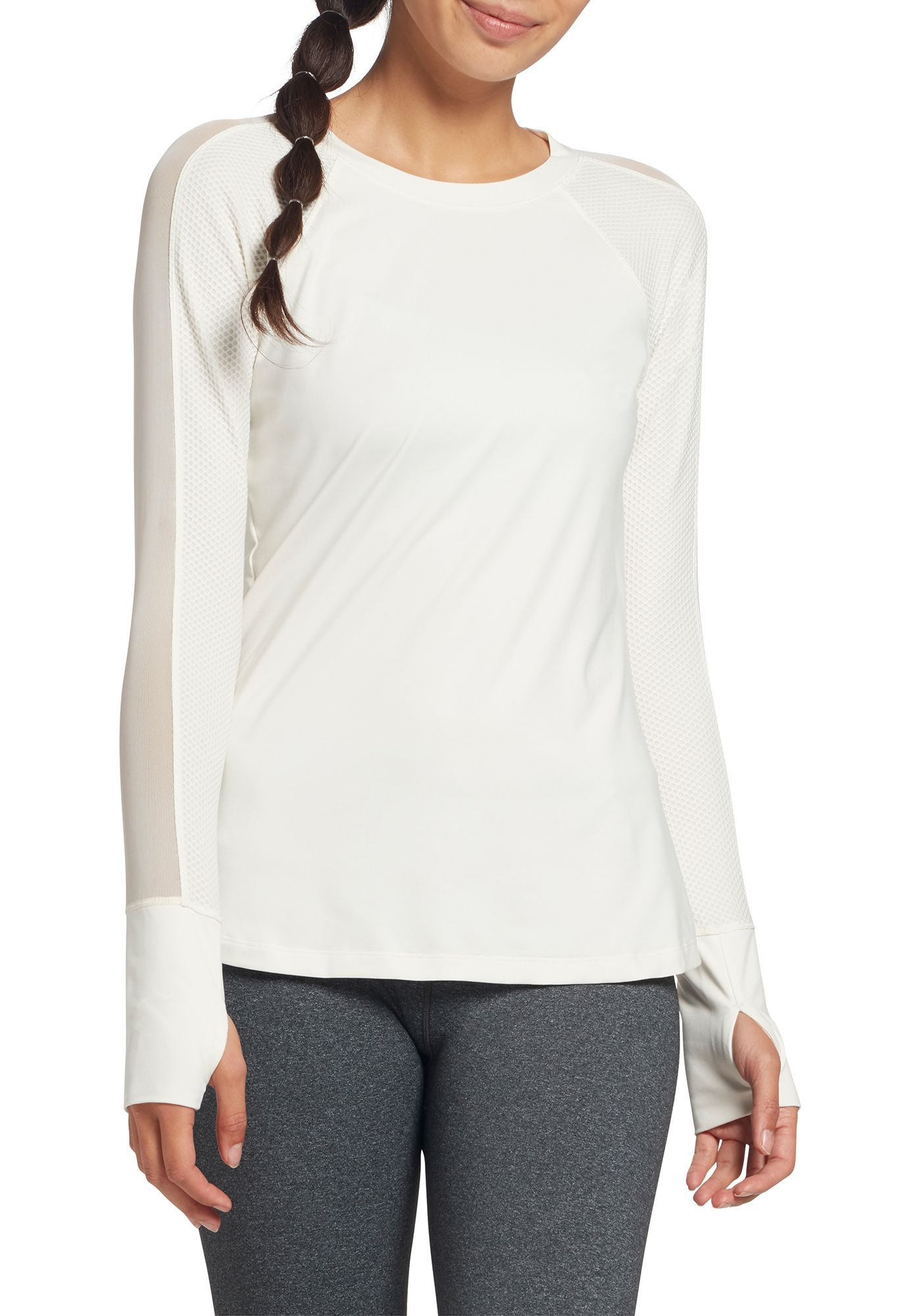 CALIA by Carrie Underwood Women's Move Mesh Panel Long Sleeve Shirt